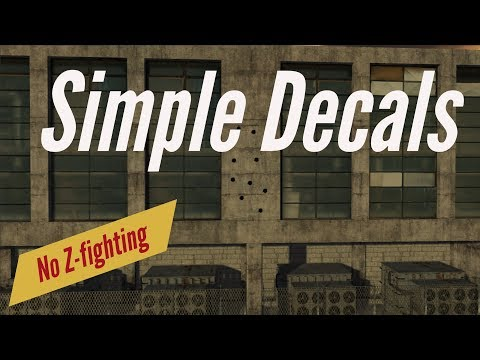 Simple Unity3D Decals with no ZFighting