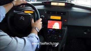Citroen C4 Com DVD Integrado Aos Controles De Volante Através De Interface FAAFTECH.