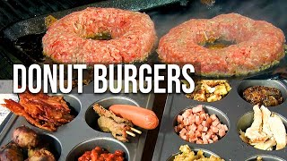 Stuffed Donut Burgers by the BBQ Pit Boys by BBQ Pit Boys
