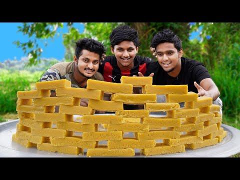 GHEE MYSORE PAK RECIPE | Soft Mysore Pak |Diwali Sweet Recipe | Village Cooking |Food4 People