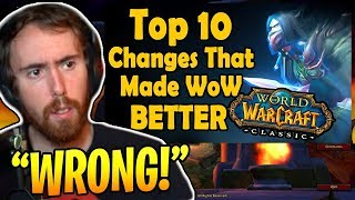 "Asmongold Reacts To ""Top 10 Changes Made After Vanilla WoW That Made the Game Better"" By hirumaredx"