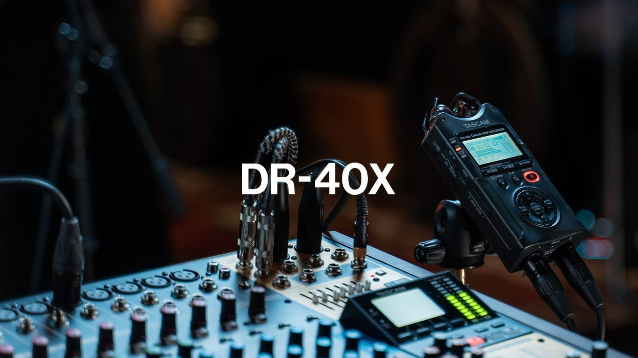 מקליט אודיו דיגיטלי 4 ערוצים Tascam DR-40X