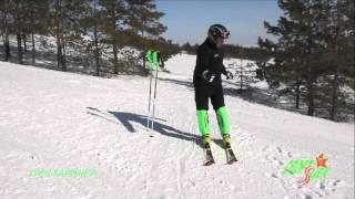 Смотреть онлайн Урок карвинга на горных лыжах для новичков