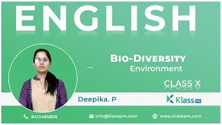 UNIT VI BIO  Diversity( Environment)  /10th Class | English | Klasspm. Com