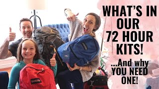 What To Pack In A 72 Hour Kit! A Look Inside Our ACTUAL Bags! | Emergency Preparedness Tips