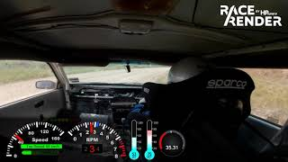 Supercharged Nissan Pulsar at Dorsets Road gravel sprint 24 Novembe 2109