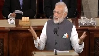 PM Modi Addresses US Lawmakers At Capitol Hill