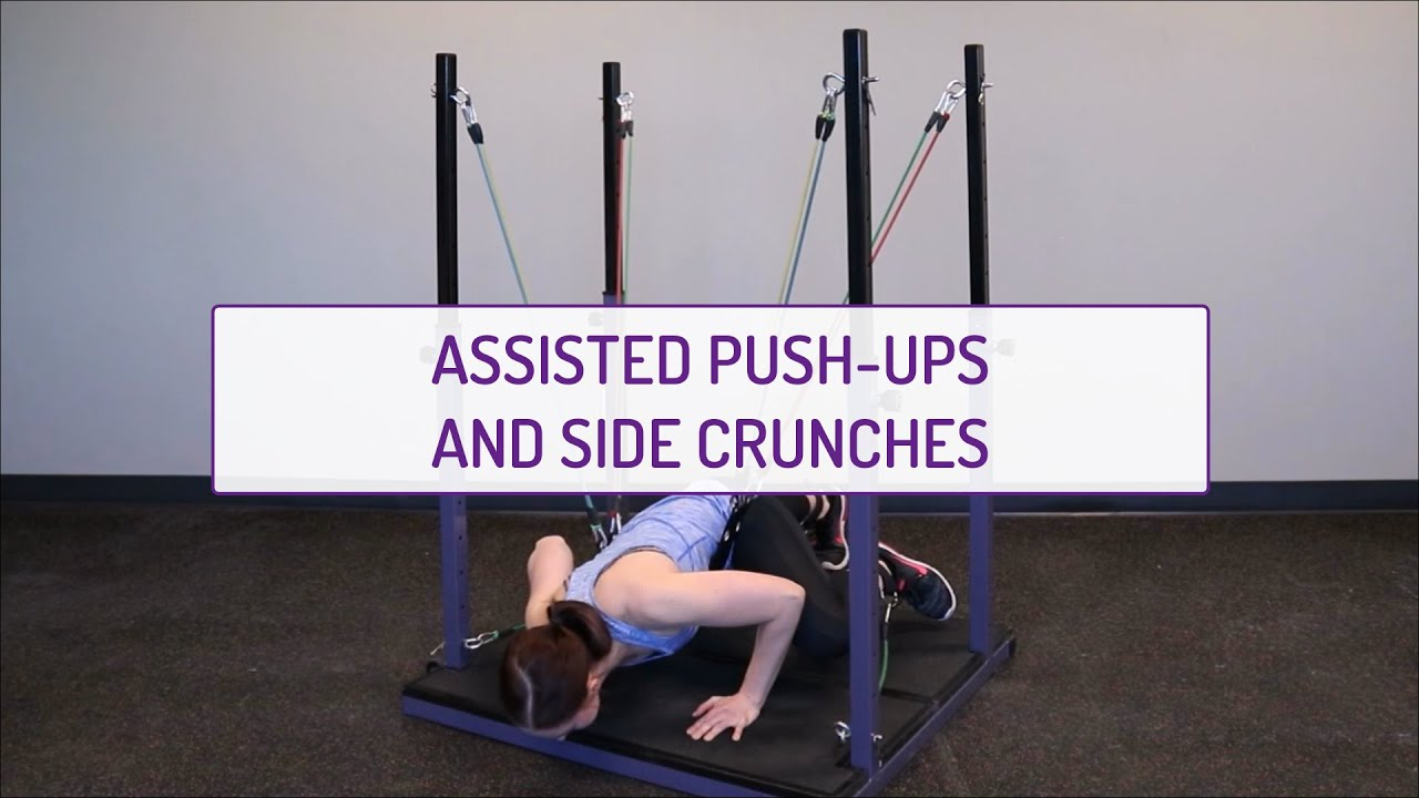 Assisted Push-Ups and Side Crunches