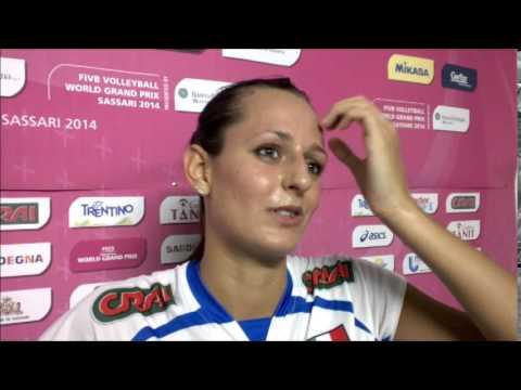 Caterina Bosetti dopo la vittoria contro la Cina