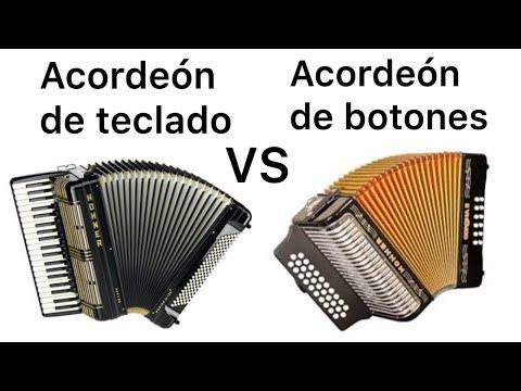 Diferencias entre acordeón de teclado y acordeón de botones