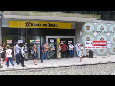 Agências do BB são paralisadas em Santos contra a reestruturação do Banco