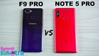 Oppo F9 Pro vs Redmi Note 5 Pro SpeedTest and Camera Comparison