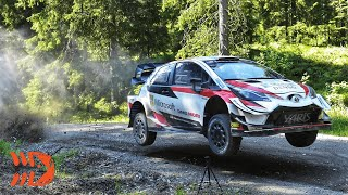 Flying Toyota Yaris WRC - Ogier Test Finland 2020