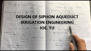 Siphon Aqueduct | Cross Drainage Structure | Irrigation Engineering| IOE, TU