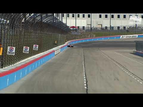 Raw Video: Tony Kanaan smacks the wall during qualifying at Texas