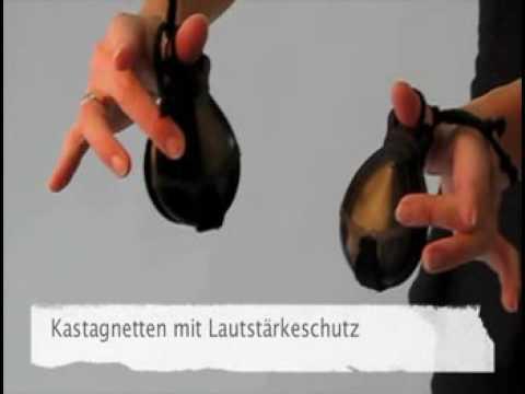 Kastagnetten Spiel mit Lautstärkeschutz