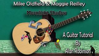 Moonlight Shadow - Mike Oldfield & Maggie Reilley - Acoustic Guitar Lesson (easy-ish)