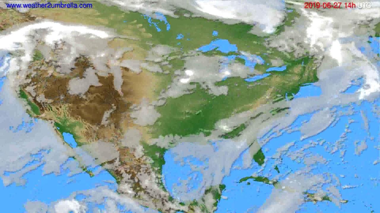 Cloud forecast USA & Canada // modelrun: 12h UTC 2019-06-25