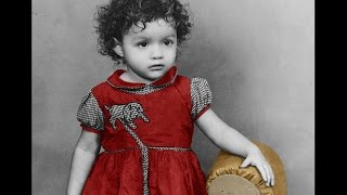 Damaged baby photo SAVED and COLORIZED!