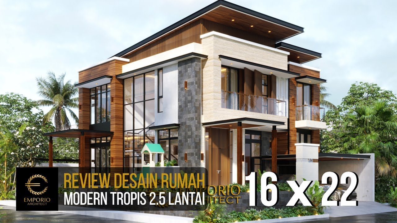 Video 3D Mr. Andi Modern Hook House 2.5 Floors Design - Jakarta Utara