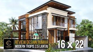 Video Desain Rumah Hook Modern 2.5 Lantai Bapak Andi di  Jakarta Utara