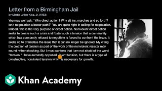 Letter from a Birmingham Jail | US government and civics | Khan Academy