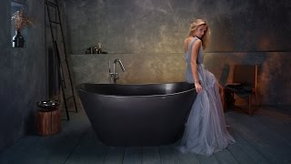PureScape 748-BM Graphite Black Stone Bathtub