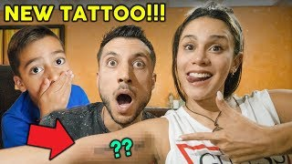 SURPRISING MY FAMILY WITH A TATTOO **EPIC REACTION** | The Royalty Family