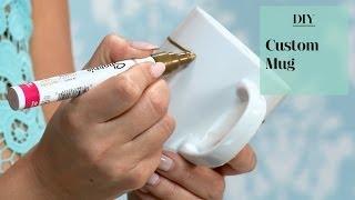 DIY Custom Sharpie Painted Mug