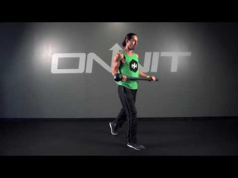 Static Lap Lunge Steel Mace Exercise