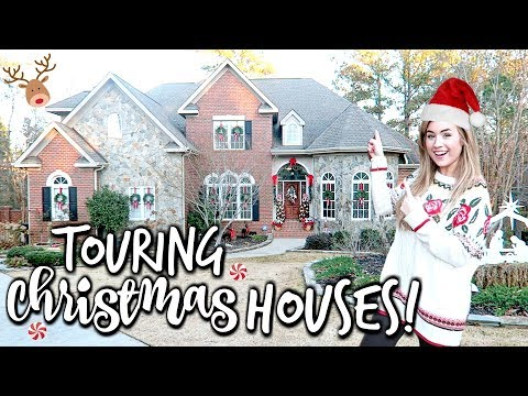 TOURING CHRISTMAS HOUSES | DECORATING FOR CHRISTMAS IDEAS