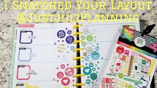 Happy Planner -  Plan With Me - I Snatched Your Planner Layout #4 - Horizontal