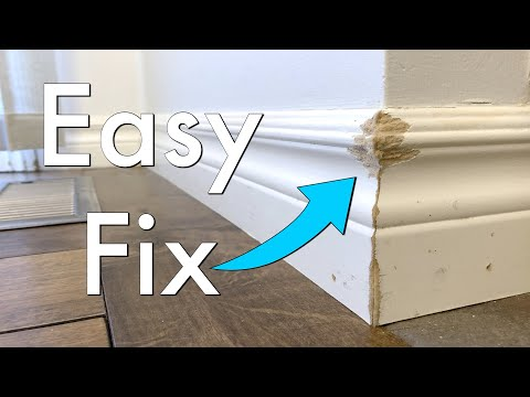 The Easiest Way to Repair a Chipped Baseboard