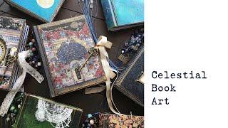 NEW Celestial Junk Journal Collection   Handmade Book Art   Etsy Shop Update   Astronomy   Galaxy