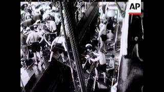 Video: HMS Warrior Aids Evacuation (1954)