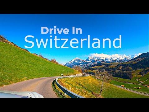 Drive Tesla Model 3 in Switzerland 4K l Amazing Landscape Travel POV