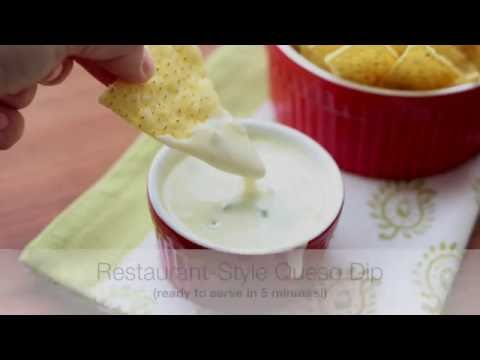 Video Restaurant-Style Queso Dip {a.k.a. Spicy White Cheese Dip}