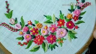 181-Flowers From Basic Embroidery Stitches(Hindi /Urdu)