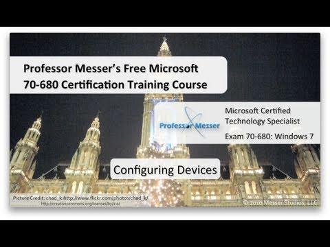 Configuring Windows 7 Devices - Microsoft 70-680: 3.1 - YouTube