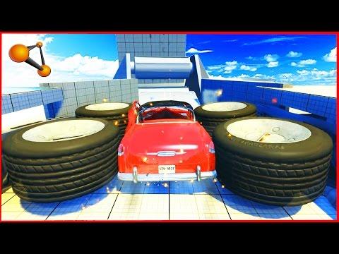 BeamNG Drive - Giant Crash Machines - Epic Crash testing #3
