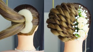 Easy French Roll Hairstyle Step By Step | French Bun Hairstyles For New Year 2020