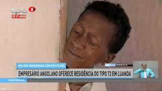 Mulher abandonada com 8 filhos recebe residência do tipo T3 em Luanda