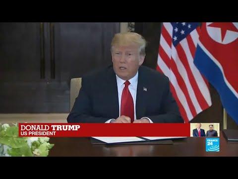 Donald Trump with Kim Jong-Un: