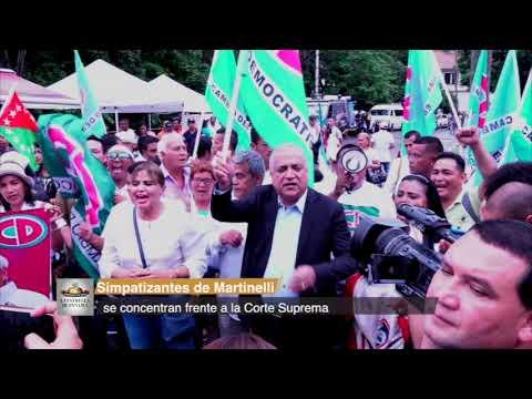 Simpatizantes de Martinelli, se concentran frente a la Corte Suprema