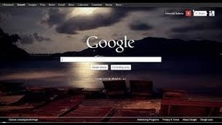 How to Change Your chrome browser and Your desktop Background for windows 7