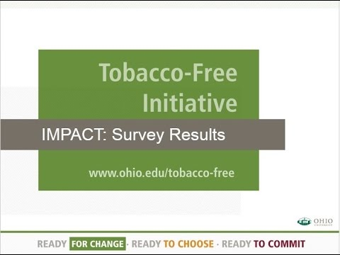 OHIO's Tobacco Free Initiative Fall 2015 Impact Survey Results
