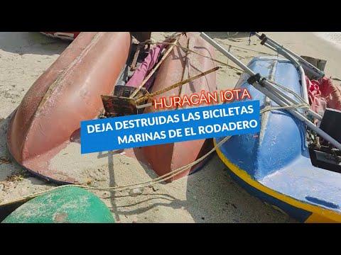 Huracán IOTA dejó sin trabajo a dueños de bicicletas marinas