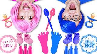 Pink Vs Blue Challenge - Matt and Rebecca
