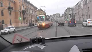 Опасное Вождение в нашем городе Какие условия нам создают дорожные службы на Большеохтенском.