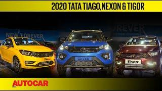 2020 Tata Tiago, Nexon & Tigor facelift walkaround & price   First Look Review   Autocar India